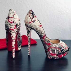 ❤️OPEN TO OFFERS❤️Lady Peep 150 Python Paint Pumps